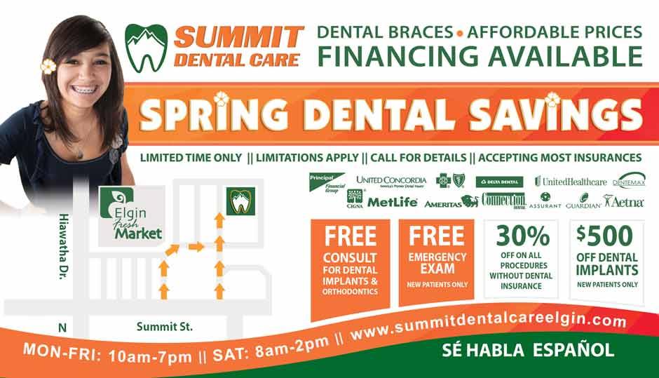 Summit Dental - dental dental offers side 2 spring 2021